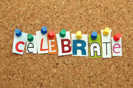 Celebrate pinned on noticeboard